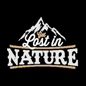 Get lost in nature wanderer camper