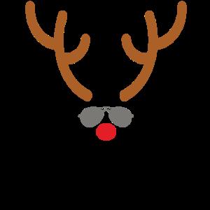 Witziges Rentier Geweih Weihnachtsgeschenk