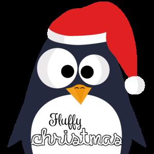 Fluffy christmas Penguin