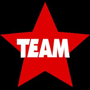 Team Sterne rot Teamshirt Geschenk Geschenkidee
