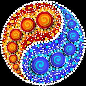Yin Yang, Elemente, Punkt Muster, Mosaik, Spirale