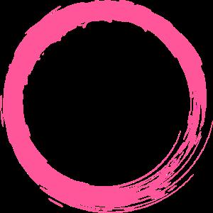 Rosa Kreis Kreisform anpassbar