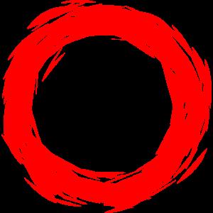 Kreis Design Rot Kreisform neue Variante