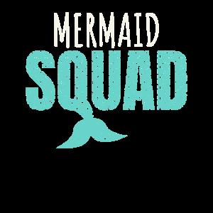Mermaid Squad Gift Bachelorette Party Bridesmaid