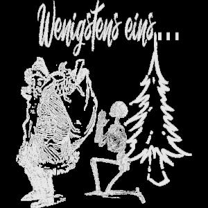 Weihnachtsmann mit Skelett & Tanne | Shirt Idee