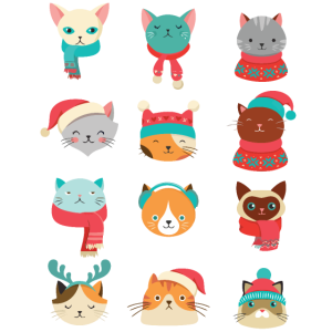 Christmas Cat Faces Funny Cat Lovers Gifts