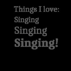 Ich mag singen, singend, Karaoke-Liebhaber für singend
