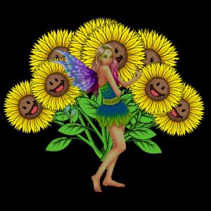 Flora Blumenkind Elfe Sommer Blumen Fantasy
