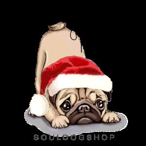 Weihnachten Mops Pug Hund Xmas