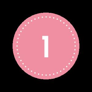 1. Geburtstag rosa