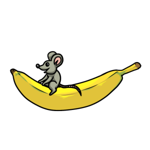 Nager Maus Mäuschen Ratte Banane Kinder