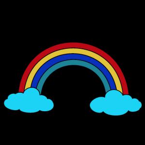 Regenbogen Wolken Himmel Wetter