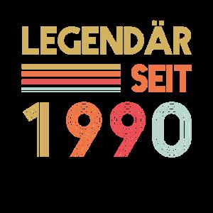 30 Geburtstag - Legendär seit 1990 Retro
