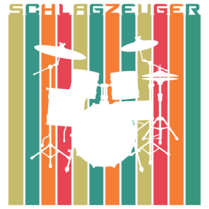 Schlagzeuger Retro Style