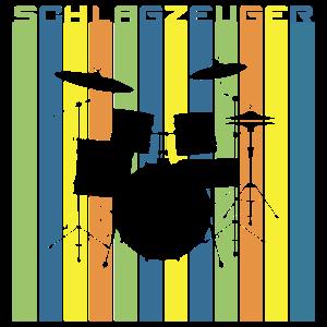 Schlagzeuger Retro Look