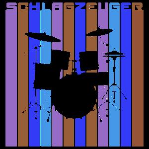 Schlagzeuger Retro