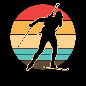 Biathlon Sportler Skilauf