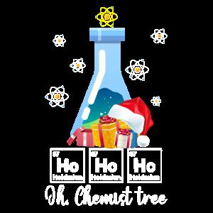 Ho Ho Ho Oh Chemist Tree Funny Chemistry Lovers