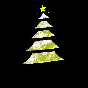 xmas tree stars shine gold