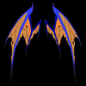 Blue Demon Wings!