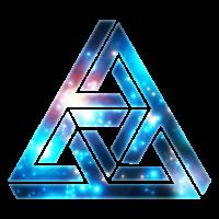 Unmögliches Dreieck, Optische Illusion, Galaxy
