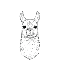 Illamanati | Cool Llama Design with Triangle