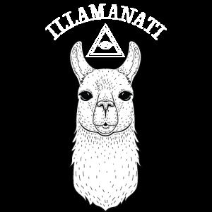 Illamanati | Cool Llama Design with Triangle