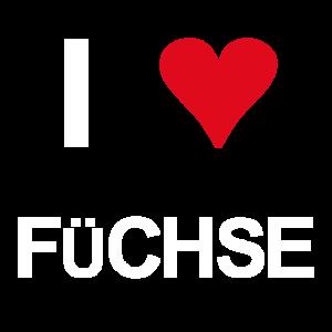 I love Füchse