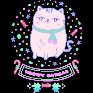 Katze Weihnachten Weihnachtsgeschenk Mädchen pink