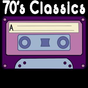 70er Jahre Musik Cassette Kassette Retro