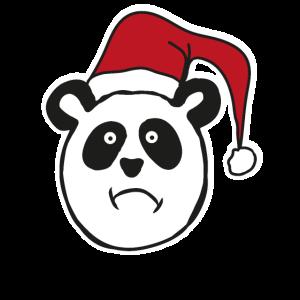 Panda Weihnachtsmütze Weihnachten