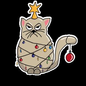 Katze Lichterkette Weihnachten