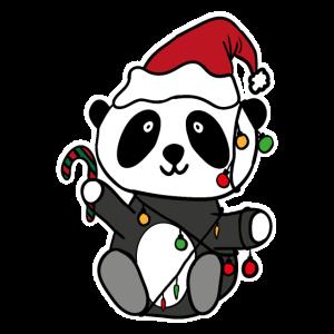 Panda Lichterkette Weihnachten