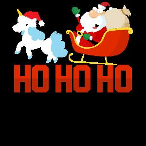 Weihnachten Einhorn Weihnachtsmann
