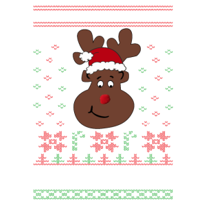 Lustiges Rentier Ugly Christmas Weihnachten