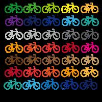 Farbige Fahrräder