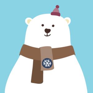 Poster Eisbär Nordpol Winter Kinderzimmer Deko