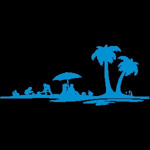 Sommer - Strand und Palmen