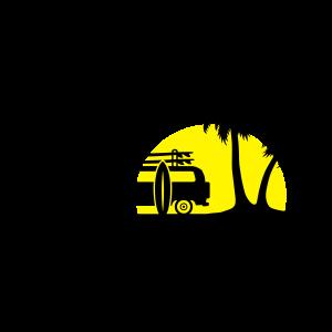 Sommer - Strand, Bus und Surfen