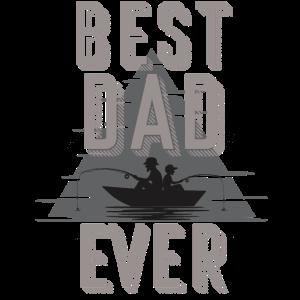 Bester Vater Angeln mit dem Sohn