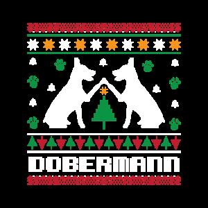 Ugly Christmas Dobermann Weihnachten Strickmuster