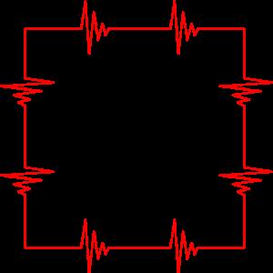 Viereck Quadrat Herzschlag Rot