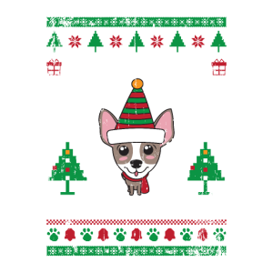 Chihuahua Ugly Christmas Strickmuster