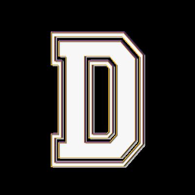 D 3D - D, der Buchstabe D in 3D. - abc,D in 3 D,D,Collegestyle,College,Buchstabe D