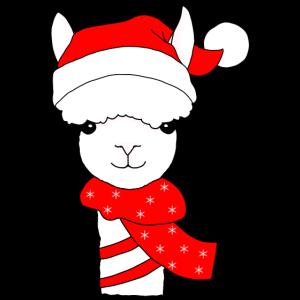 Alpaka Lama Tier Weihnachten Geschenkidee
