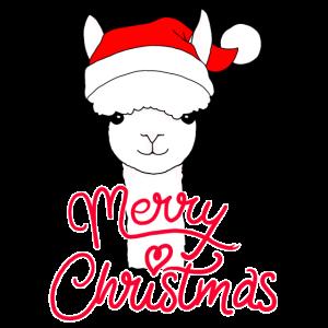 Alpaka Lama Winter Weihnachten Geschenkidee