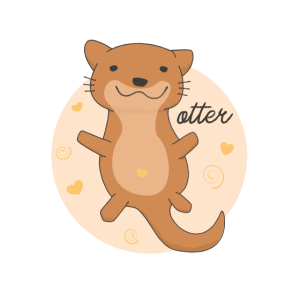 Cute Otter süßer Otter funny Seeotter Flussotter