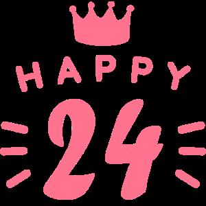 24. Geburtstag 24 Jahre alt Happy Birthday Spruch