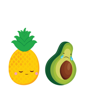Cute Pineapple & Avocado   You're The Good Fat...