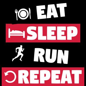 Laufen, Läufer - essen, schlafen, laufen